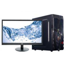 """Компьютерный комплект H61, Intel Core i3-3220, 4GB, 1TB+120GB SSD, GPU 2GB, 450W, DVD, AOC 21.5"""", клавиатура, мышь, колонки"""