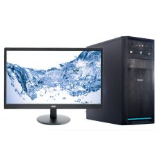 "Компьютерный комплект H110, Intel Core i3-7100, 4GB, 1TB, 550W, DVD, AOC 21.5"", клавиатура, мышь, колонки"
