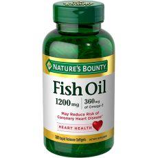Рыбий жир NATURE'S BOUNTY, 1200 мг, Омега 3 360 мг, 180 капсул