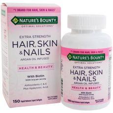 Экстра сильные волосы, кожа и ногти NATURE'S BOUNTY, 5000 мкг, 150 капсул