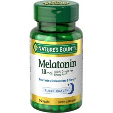 Мелотанин NATURE'S BOUNTY, 10 мг, 60 капсул
