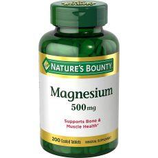 Магний NATURE'S BOUNTY, 500 мг, 200 таблеток