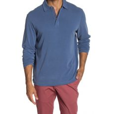 Paradise Sport Long Sleeve Zip Polo  Tommy Bahama Atlantic