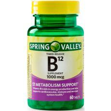 Витамин B12 Spring Valley, 1000 мкг, 60 таблеток
