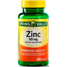 Цинк Spring Valley, 50 мг, 200 таблеток