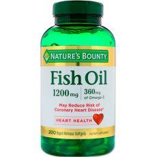 Рыбий жир NATURE'S BOUNTY, 1200 мг, Омега 3 360 мг, 200 капсул