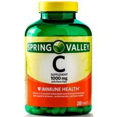 Витамин C Spring Valley, 1000 мг, 250 таблеток