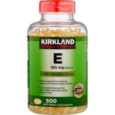 Витамин E 180 мг (400 IU), Kirkland Signature, 500 капсул