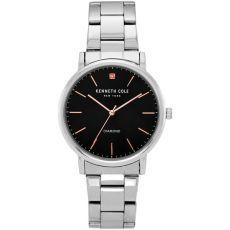 Мужские часы Kenneth Cole New York, браслет с бриллиантами, 40 мм