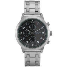 Мужские часы Kenneth Cole New York спортивные серебряные, 47 мм