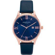 Мужские часы Kenneth Cole New York классические с кожаным ремешком, 44 мм