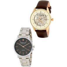 Kenneth Cole New York Men's 2-Piece Leather & Diamond Bracelet Watch Set, 39-41mm - 0.01 ctw