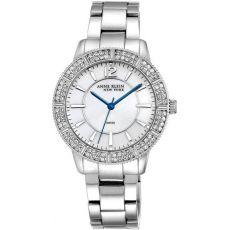 Женские часы Энн Кляйн (Anne Klein) серебряный тон швейцарский механизм Swarovski кристалл украшен, 38 мм