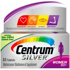 Мультивитамин CENTRUM WOMEN SILVER 50+, 65 таблеток