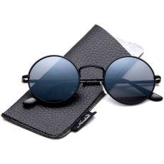 Круглые солнцезащитные очки John Lennon Gun/metal smoke