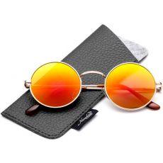 Круглые солнцезащитные очки John Lennon Orange Flash
