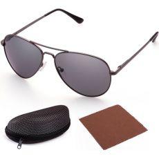 Поляризованные солнцезащитные очки-авиаторы Grey