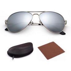 Поляризованные солнцезащитные очки-авиаторы Silver