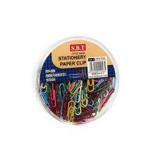 Скрепки цветные для бумаг S.B.T. PP-453, 250 шт