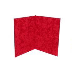 Папка для поздравления темно-красная