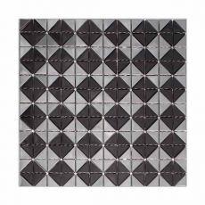 Металлическая мозаика Black mirror из нержавеющей стали