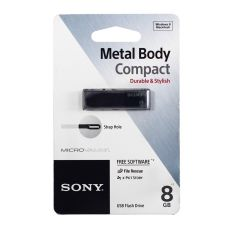 USB флешка Sony USM8W, 8GB, черный