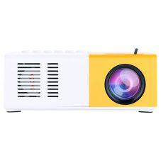 Мини проектор LED Projector, бело-желтый