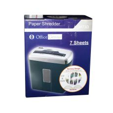 Шредер (Paper Shredder) Office genius SH73D, черно-серебристый