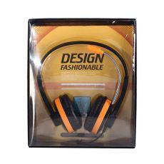 Наушники с микрофоном Tech JC-H132D, черно-оранжевый