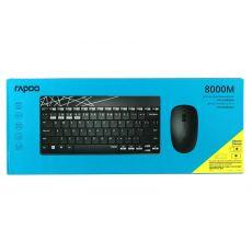Беспроводная клавиатура+мышь мультимод Bluetooth RAPOO 8000M, черный