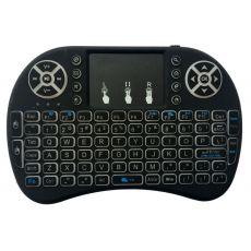 Многофункциональная беспроводная мини клавиатура, с подсветкой, сенсорная мышь, Bluetooth, черный