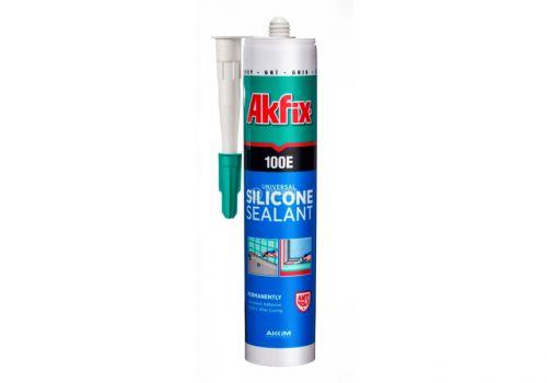 Универсальный силиконовый герметик Akfix 100E, 280 мл