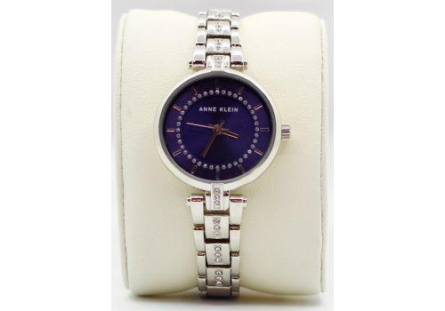 Часы с кристаллами Anne Klein, серебряный