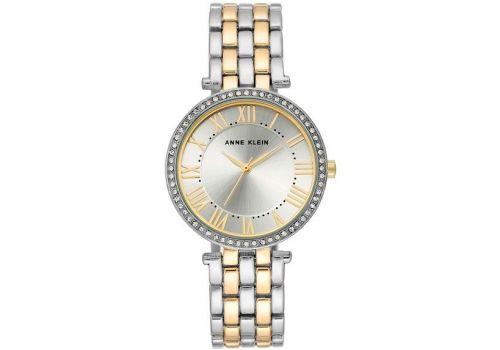 Женские часы Энн Кляйн (Anne Klein) браслет безель кристалл, 34 мм