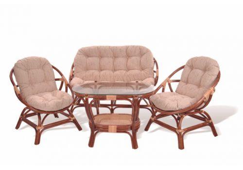 Комплект для отдыха, диван, стол, 2 кресла