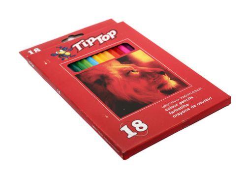 Набор цветных карандашей TipTop 18 цветов