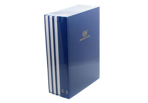 Тетрадь 200 листов Manuscript Book FIS A4 4Q цвет синий 5 шт