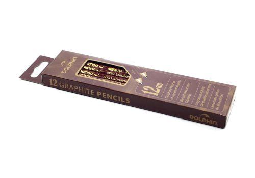 Набор чернографитовых карандашей Dolphin черный 12 шт