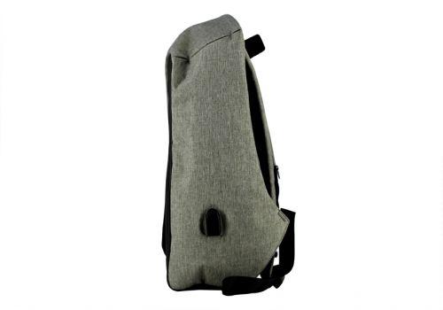 """Рюкзак с USB для ноутбука BIAOWANG 17"""", черно-серый"""