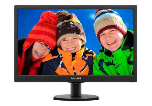 "Монитор PHILIPS 193V5LSB2, 18.5"", 1366 x 768, черный"