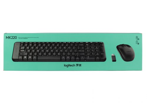 Беспроводная клавиатура+мышь Logitech MK220, черный