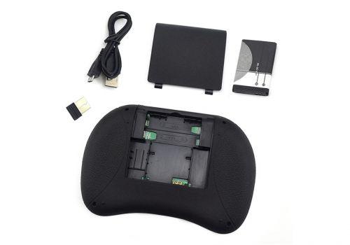 Многофункциональная беспроводная мини клавиатура, сенсорная мышь, Bluetooth, черный
